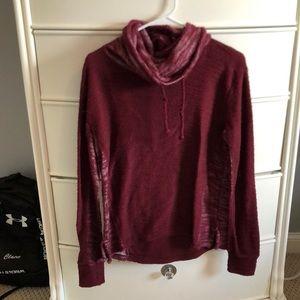 Hollister Maroon long sleeve sweater